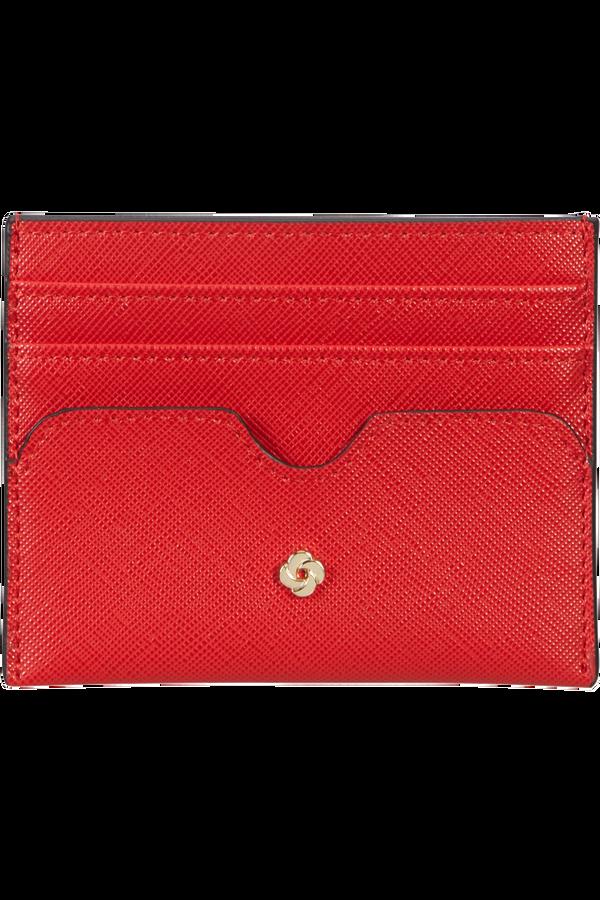 Samsonite Wavy Slg 337 - 6 Credit Card Holder  Červená