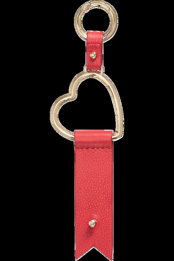 Samsonite Lady Charmy Heart Key Ring  Červená