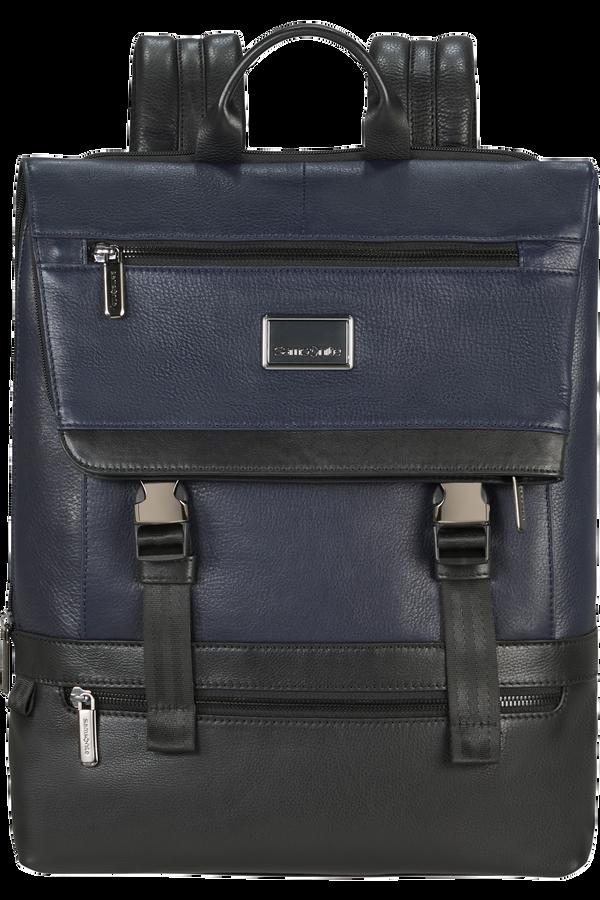 Samsonite Waymore Lth Laptop Backpack Flap Slim  15.6inch Modrá