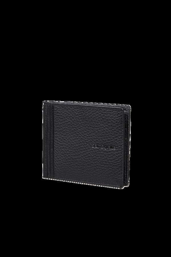 Samsonite Double Leather Slg 001 - B S 6CC+2C  Černá