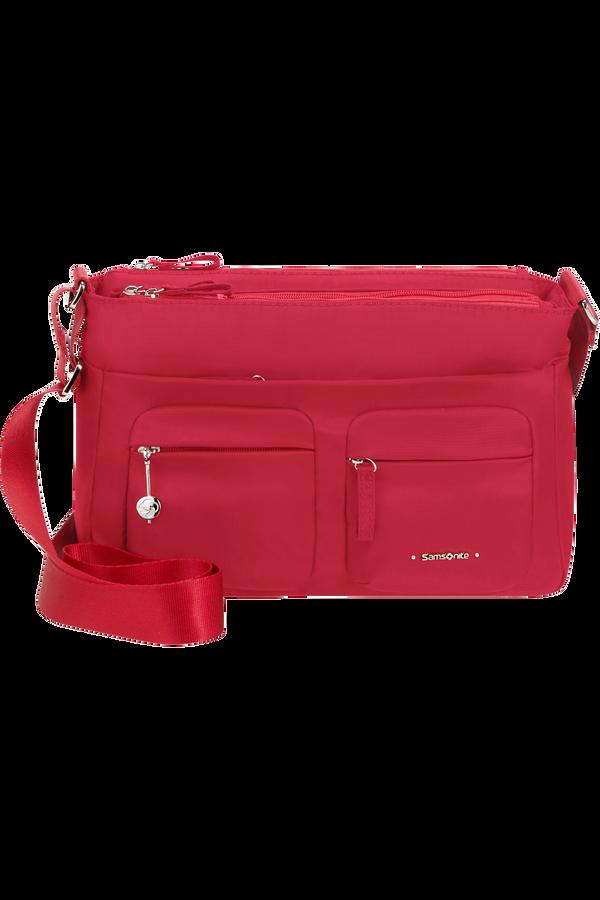 Samsonite Move 3.0 Horizontal Shoulder Bag + Flap  Třešňová červená