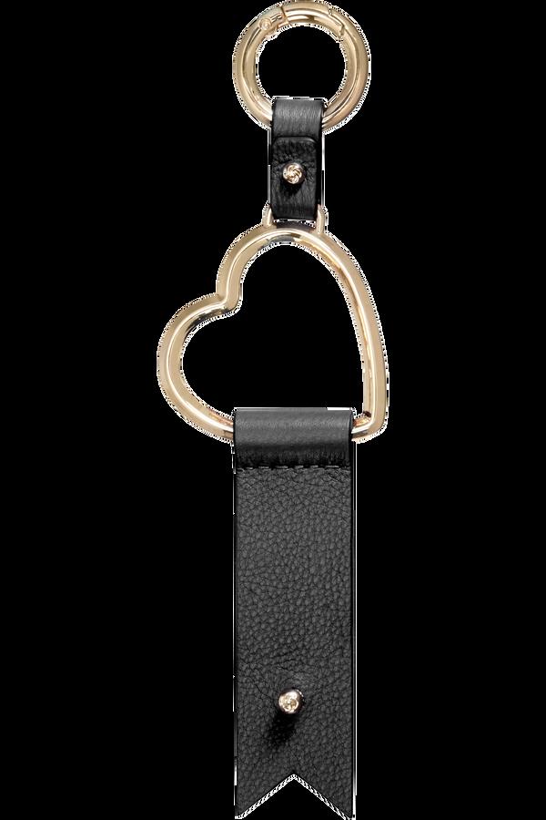 Samsonite Lady Charmy Heart Key Ring  Černá